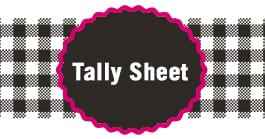 Kytons Fundraising Tally Sheet