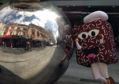 Lary Lamington in Rundle Mall