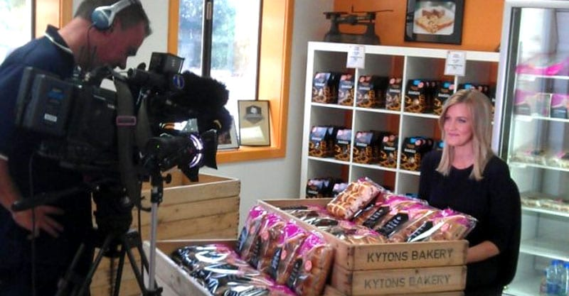 Channel 10 live from Kytons Bakery