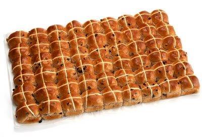 Tray of 54 Hot Cross Buns