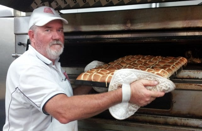 Hot out of the oven – enjoy your first Kytons Hot Cross Bun for 2013!