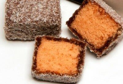 Orange Lamingtons - 6 Pack
