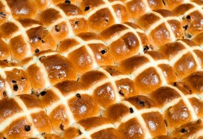 Tray of 84 Snack Size Hot Cross Buns