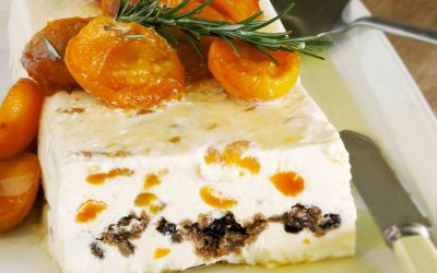 Kytons Christmas Pudding Semifreddo with Brandied Apricots