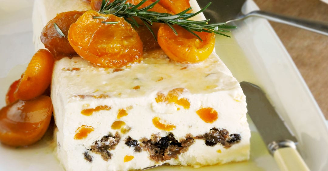 Kytons Christmas Pudding Semifreddo with Brandied Apricots by Bree May
